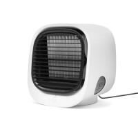 Delight Hordozható mini léghűtő ventilátor - USB - fehér