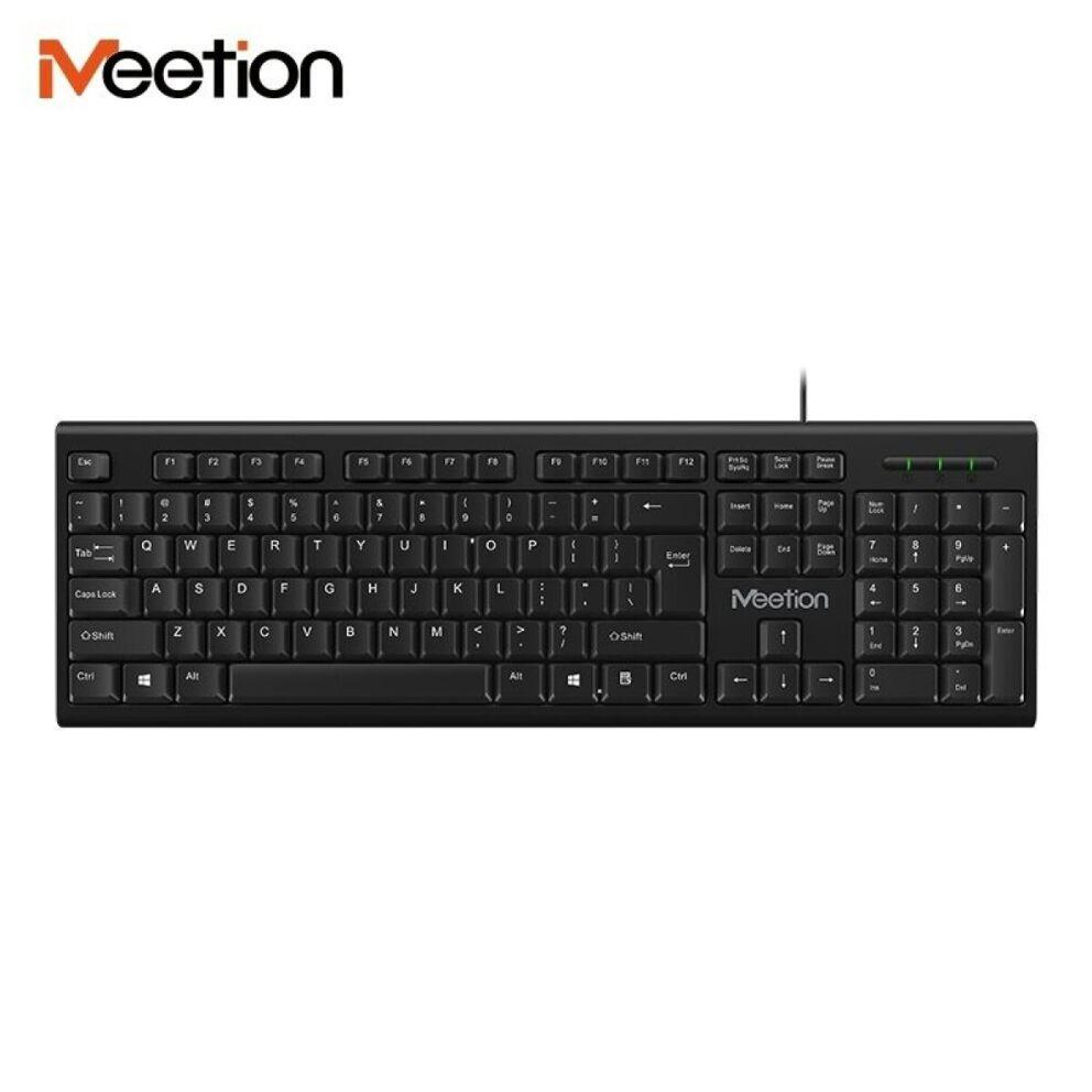 Meetion MT-K100 USB fekete billentyűzet